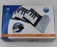 NEW Portable 49 Keys Roll Up Electronic Flexible Foldable Keyboard Piano Soft  Hand Music Organ