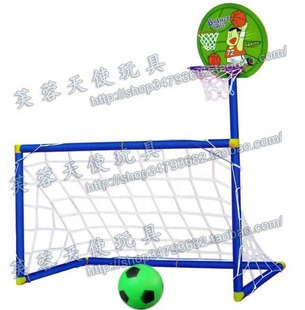 Child outdoor toys parent-child sports basketball football door combination set 0.48(China (Mainland))