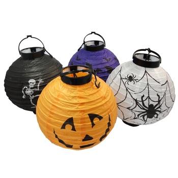Halloween decoration supplies props jack pumpkin portable pumpkin paper lantern battery