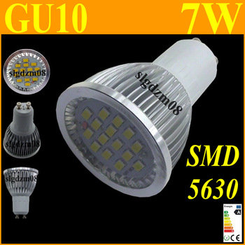 LED Spotlight SMD 5630 GU10 7W Non-Dimmable Spot light Lamp Bulb Spotlight Ceilinglight Homelighting Low Consumption 1Pcs