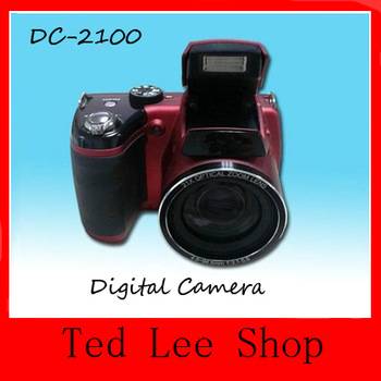 Free shiping professional 1280*720P video SLR Digital Camera DC-2100 with Sony 16.0 mp CMOS sensor and 21xoptical zoom