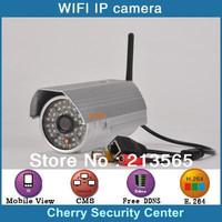 2 Mega pixel outdoor Wifi IP Camera 1080P P2P outdoor wireless waterproof wifi ip camera with IR 30Meters