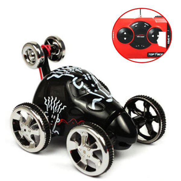 Color D New 360 Rotation Micro RC Radio Remote Control Racing Stunt Flip Car Toy Kids Free shipping & wholesale(China (Mainland))