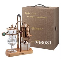 4C cafe coffee pot,royal belgium coffee maker,rose gold Green cats eye stone,excellent quality and perfect artwork