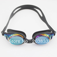 Black Comfortable Adjustable Anti-Fog UV Glass Adult Swimming Goggles Glasses