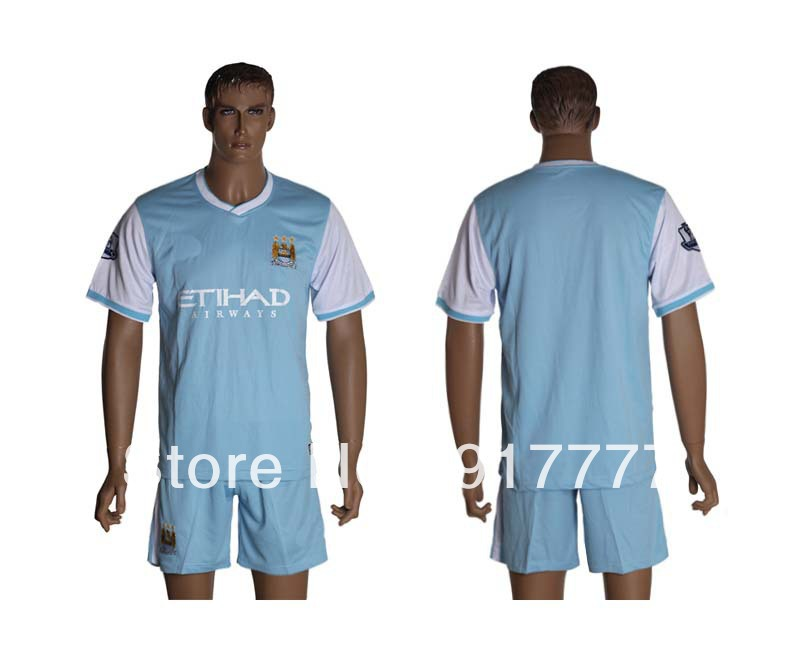 2013 2014 Clubs Team Manchester City Home Light blue no name Kits Jerseys(China (Mainland))