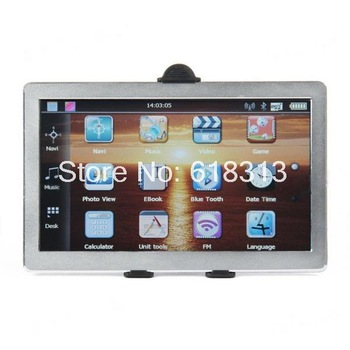 "7.0"" Touch Screen WinCE 6.0 GPS Navigator w/ Bluetooth / FM / AV IN (4GB TF Card with Brazil Map)"