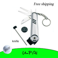 Free Shipping! Multi-function Tool Golf Saber For Golf Clubs Player Shoes With Knife Wrench