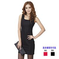 Yutai summer white collar women's elegant slim ol formal work wear tooling formal plus size one-piece dress