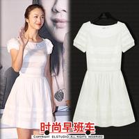 Fashion Fashion 2013 women's elegant white princess one-piece dress female skirt medium