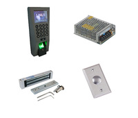 Free shipping by DHL,TCP/IP  fingeprint, access control kit , +switch power+ 180kg magnetic  lock+exit button,sn:F18_3