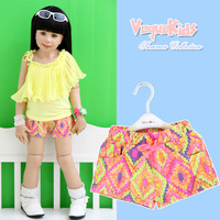 New arrival 2013 baby summer children's clothing summer female child multicolour child thin soft denim short trousers shorts