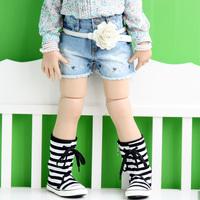 2013 baby summer fashion children's clothing summer female child thin soft denim short trousers child shorts