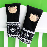 2012 children's clothing winter female child autumn and winter socks child thickening cotton-padded pants long legging trousers