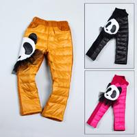 2012 child autumn and winter female child velvet pencil down pants skinny pants