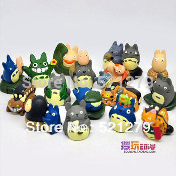 free shipping 17pcs/set My Neighbor Totoro mini figures PVC figures NEW JAPAN ANIME Figures  gifts,toys
