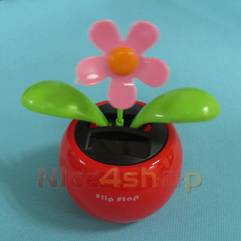 Fedex 100pcs Lovely Solar Powered Flip Flap Dancing Toys Flower Plant  70136-100