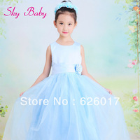 2013 hot bohemian girls dress,girls clothing lace sleeveless children's dress,princess tulle dress girl gift to daugther