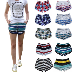 Free shipping 2 plus size women's running sports tennis ball yoga beach casual shorts quick-drying(China (Mainland))