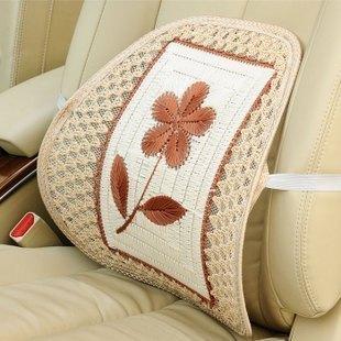 Car car mesh lumbar support pillow tournure flower in the lumbar support hand-knitted lumbar support auto supplies