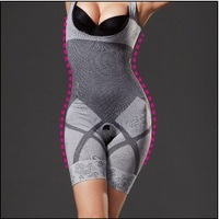 Spring and summer nano bamboo charcoal thin breathable seamless fat burning slimming bodysuit body shaping clothing slimming