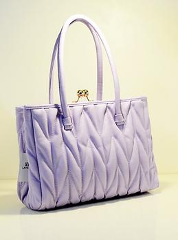 M8092 2013 new arrival women's handbag hot-selling classic ruffle clip women's handbag charming lavender light purple