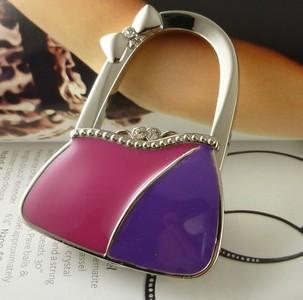 New arrival fashion lock shape alloy foldable bag hangers ,foldable purse hangers 18pcs/lot