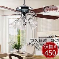 2013 new arrival Ceiling fan light 52 002b stainless steel modern fashion fan lights  free shipping