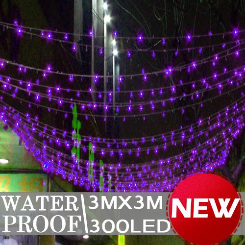 300 LED Curtain Light 3x3m Party Wedding Yard Xmas Decoration L084(China (Mainland))