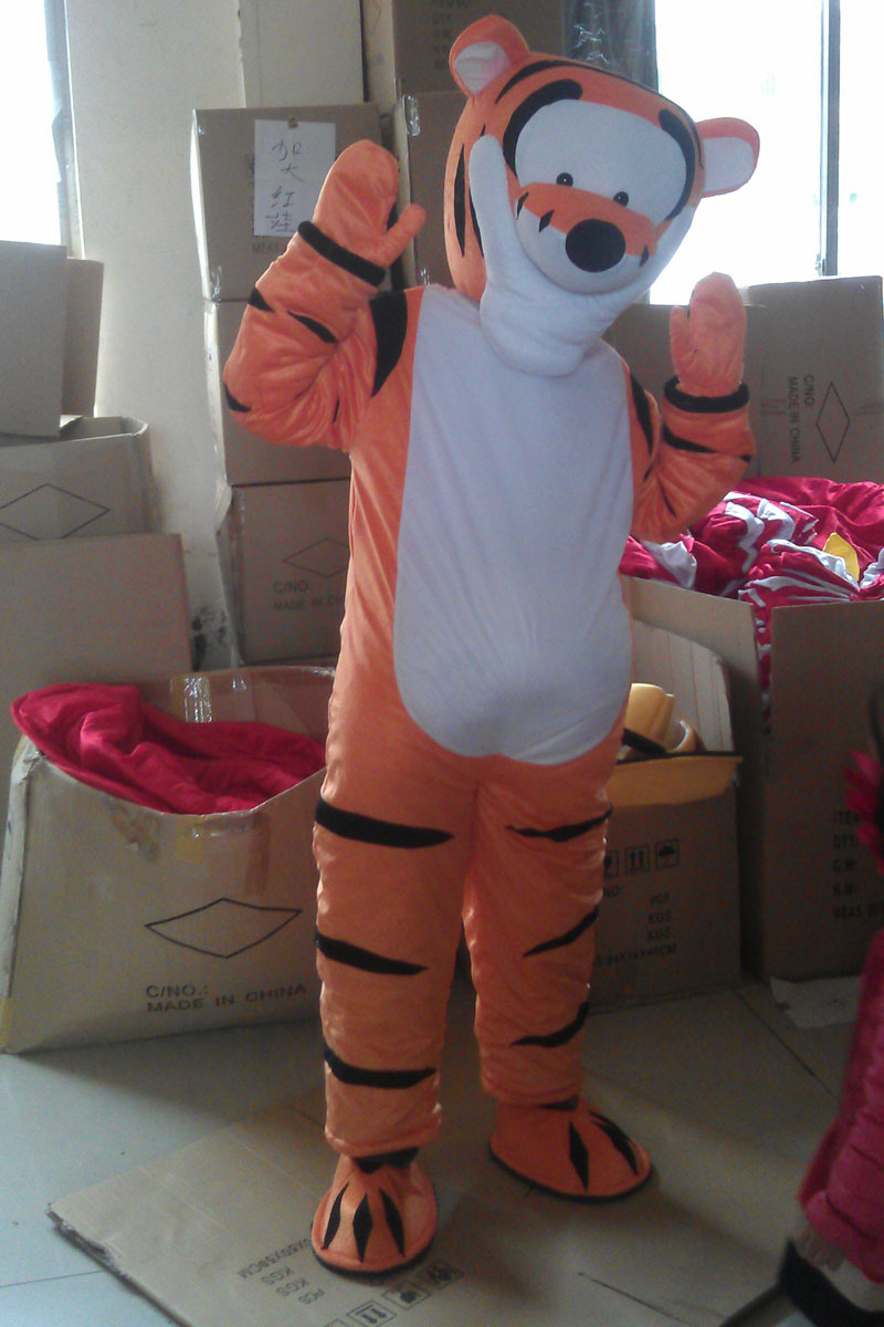 New Professional Tiger Tigger Mascot Costume Fancy Dress Adult Size EMS free shipping(China (Mainland))