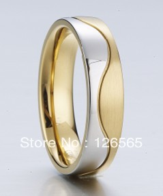 gold plated fashion stainless steel jewelry ring(China (Mainland))
