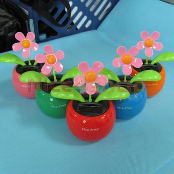 50pcs Solar Powered Flip Flap Dancing Lovely New Toys Flower Plant  70136-50