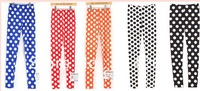 New Women Ladys Sexy Polka Dot Full Length Ankle Stretch Spot Leggings Pants Ltn    free shipping