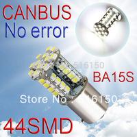 2pcs  1156 BA15S 44 SMD Pure White CANBUS OBC Error Free Signal Car 44 p21w LED Light Bulb V2 12V External Lights