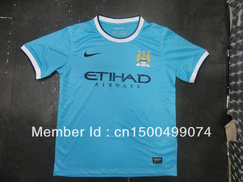 Manchester City Jersey Man City 2013-14 HOME FOOTBALL SOCCER SHIRT JERSEY(China (Mainland))