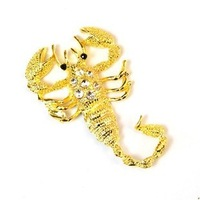 qc034 Free shopping car stickers and decals /car accessories Royal sovereign with drill 3 d metal sticker - scorpions