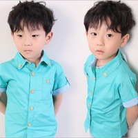 2013 wholesale Fashion 3 color,  Solid color boy's short Shirt top, Chilren's  Clothing, NXY-3002, free shipping, 5pcs/lot