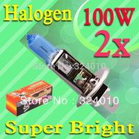2pcs H1 Super Bright White Fog Halogen Bulb 100W Car Head Lamp Light  12V