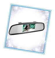 Rearview mirror 4.3 -inch high-definition resolution, reversing watch behind scenes available, universal car!