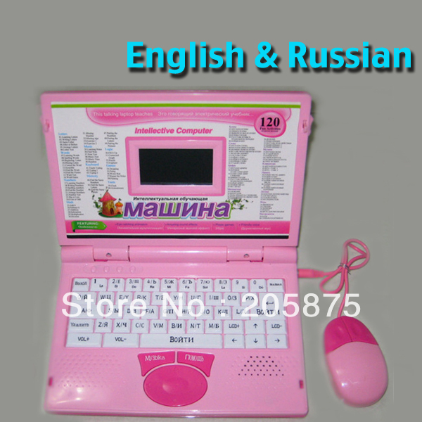Function English & Russian Dual Language Children Kids Computer Netbook Educational Study Learning Machine Toys Mouse(China (Mainland))