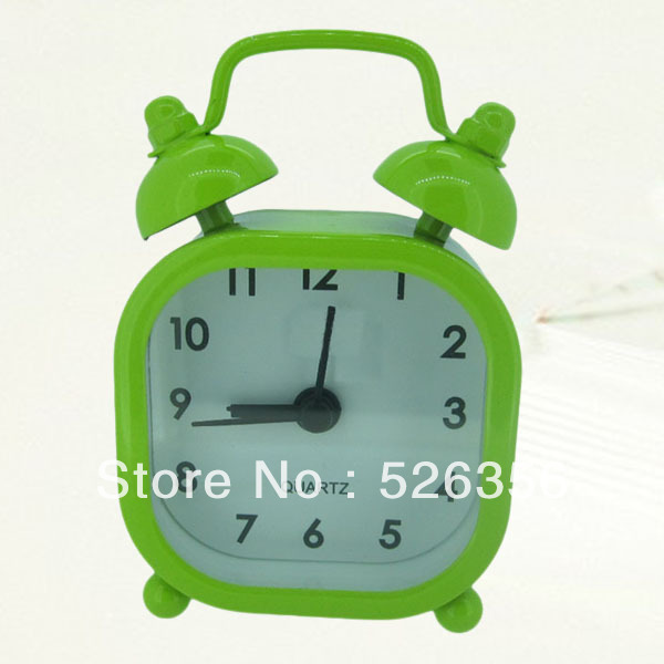 Newest metal material square shape mini alarm clock(China (Mainland))