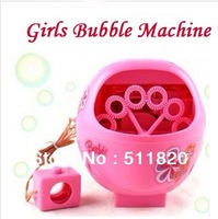 Free Shipping Super Original Automatic Bubble Machine,Electric Girls Pink Bubble Machine Toy Gift for girls