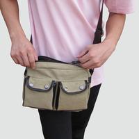 Vintage 100% cotton canvas fashionable casual shoulder bag messenger bag man bag cross-body 2013 small bag