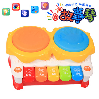 Free shipping 2013 Pentastar violin infant hand drum music toy electronic piano clap drum 37898