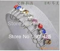 2013 Free shippingClip On U Body Crystal Rhinestone Earrings Nose Lip Ring Ear Cuff Stud Pin,fashion jewelry wholesale 36pcs/lot