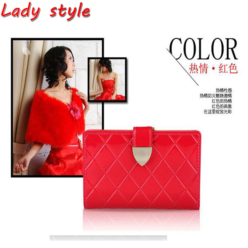 High Quality Popular Pattern Leather Stylish Handbags Ladies Polished Wallets With Card Holer Purses,Free Shipping(China (Mainland))