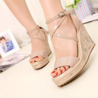 2013 sandals high platform wedges platform women's shoes customize size 31 - 41