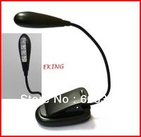 Wholesale Clip-On LED Book Light for Amazon Kindle /Nook Color, Mini Book light Reading Lamp 4 LED Light
