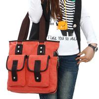 The trend of female canvas handbag shoulder bag messenger bag vintage fashionable casual women's handbag