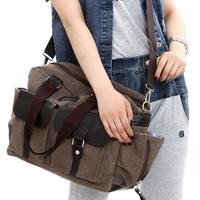 European version of the trend of one shoulder cross-body handbag 8090 unisex canvas bag large capacity bag casual bag